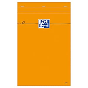 Oxford 100106292 - Bloc de notas (5 unidades, A4+,en blanco, 80 páginas, 80 g/m2), color naranja