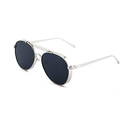 TWIG gradiente de aviador Plata hombre MUNCH mujer espejo Gafas sol Negro wY6FxqEq4