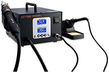 MeterTo Dual LED Screen 2 in 1 Rework Station 700W Soldering Iron 50W 200℃~480℃ Hot Air 550W 100℃~500℃ 23L//min