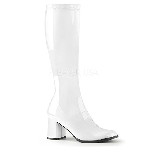 Funtasma by Pleaser Women's Gogo-300,White Patent,7 M -