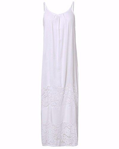 Basic Manica Abito Vestito Floreale Pizzo Elegante Maxi Lungo Dress Moda Rosso Senza Zanzea Casual Long Donna wE0zqHxqX