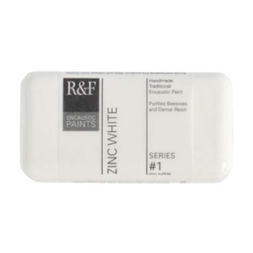 R&F Encaustic 40ml Paint, Zinc White (Encaustic Wax Art)