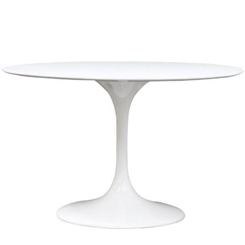 Modway Lippa 47 Round Dining Table in White