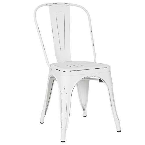 Poly and Bark Trattoria Side Chair in Distressed Black (Set of 4)