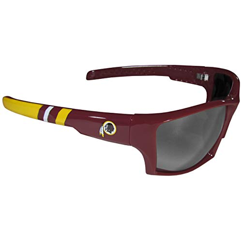 (NFL Washington Redskins Edge Wrap Sunglasses, One Size, Smoke)