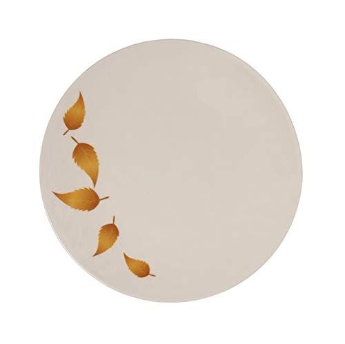 Melange 6-Piece 100% Melamine Salad Plate Set (Gold Leaves Collection) | Shatter-Proof and Chip-Resistant Melamine Salad Plates ()