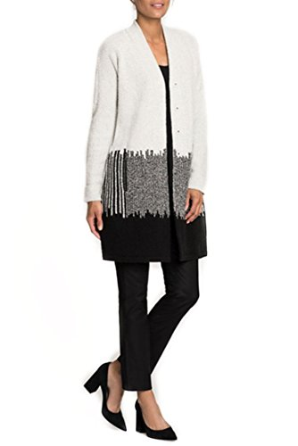 NIC+ZOE Women's Blocked Stripes Jacket chalk (Chalk Stripe Skirt)