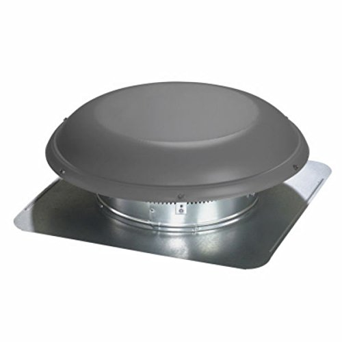 (AIR VENT INC. 97691 Galvanized Steel Dome Round Static Vent, Weathered Wood)