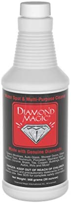Diamond Magic - Water Spot & Multi-Purpose Cleaner (20 Ounces) CleanThe Power of Genuine Diamonds NSF Approved Professional CleanerHard Water Stain Remover. Made in The USA / Diamond Magic - Water Spot & Multi-Purpose Cleaner (20 O...