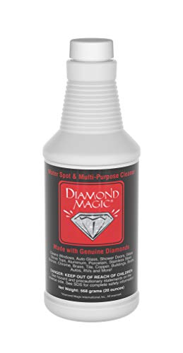 Diamond Magic - Water Spot & Multi-Purpose Cleaner (20 Ounces) Clean with The Power of Genuine Diamonds! NSF Approved Professional Cleaner/Hard Water Stain Remover. Made in The USA!