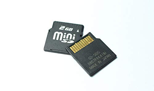 Mini SD Card 2GB MINISD Memory Card Phone Card 2G with Card Adapter (2GB)