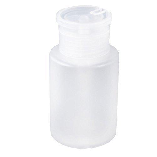 DealMux Plástico Removedor Nail Art vazio bomba Dispenser Cilindro Bottle 160ml Branco
