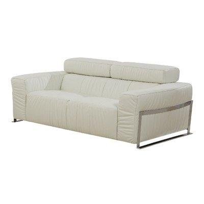 Nalah Love Seat Color: White