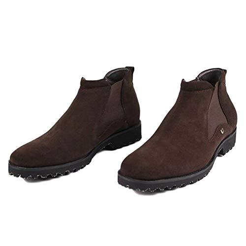 Stivali Chelsea Boots Uomo Nero Pelle Oxblood Sicurezza Brogue Classico Scrub Pelle Stivali di Pelle Stivaletti Scarpe Alte Brown