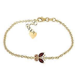 QP bijoutier Citrine Grenat & Bracelet Marquise en or 9 carats, 0.60ct 5020Y Cut