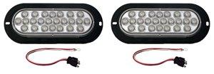 - Set of 2 Flange Mounted Clear Amber LED Strobe Lights 6