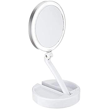 Amazon Com Floxite 10x 1x Lighted Magnification Mirror W