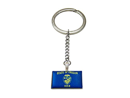 State of Oregon Flag Pendant keychain