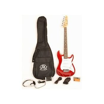electric guitar package 1 2 size w pocket amp strap cord on line video lessons. Black Bedroom Furniture Sets. Home Design Ideas