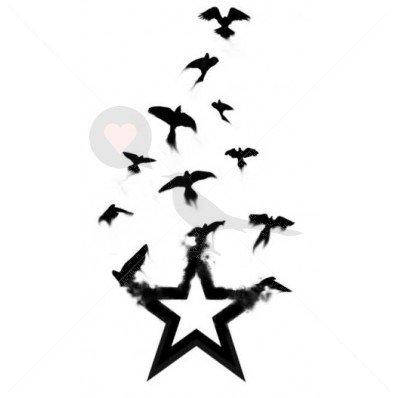 Burning Star Golondrinas - Tatuajes temporales por temptatz ...