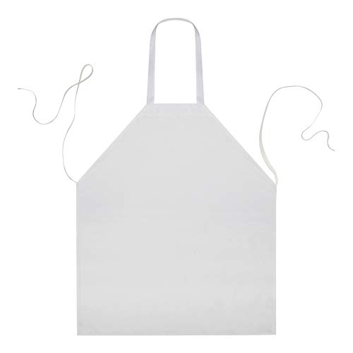 Linteum Textile (12-Pack, 28x32 in, White) Kitchen Chef BIB Apron, Commercial Grade for Restaurants & Home Use ()