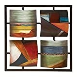 "Abstract Metal Wall Art Sculpture Home Decor 25""h, 25""w"