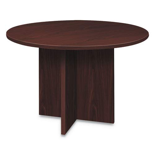 HON Foundation Round Conference Table, 47 Dia x 29 1/2h, Mahogany
