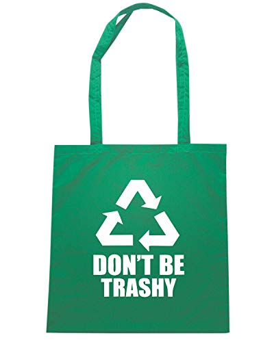 FUN1258 Borsa BE DONT TRASHYLRG Shirt Speed Shopper Verde CvIIqw