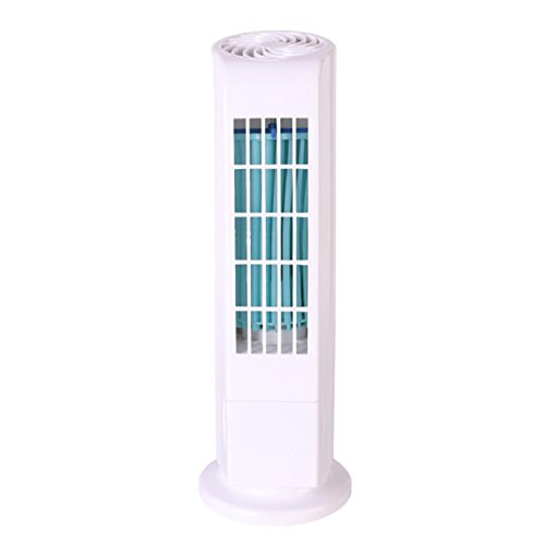 Sonmer Mini Portable USB Cooling Air Conditioner, Tower Bladeless Desk Fan (White) by Sonmer