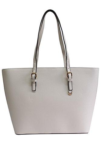 Bolso de hombro de las señoras Bolso de hombro Mujeres grandes bolsa de compras hobo 179011# Beige