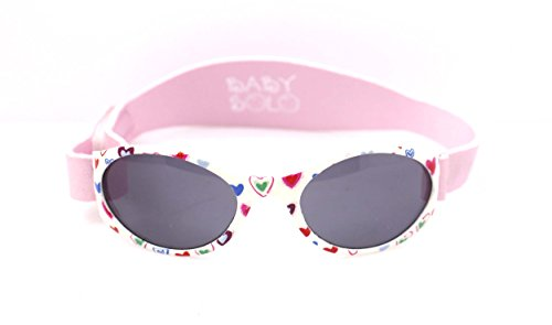 Baby Solo | Baby Sunglasses & Toddler Sunglasses | Soft, Comfortable & Adjustable | Promotes Eye Health | Safe & BPA FREE | 100% UVA/B Protection | Case Included (0-5 - Of Sunglasses Use
