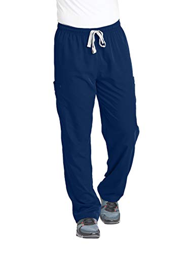 Grey's Anatomy Men's Modern Fit Cargo Scrub Pant, Indigo, Large