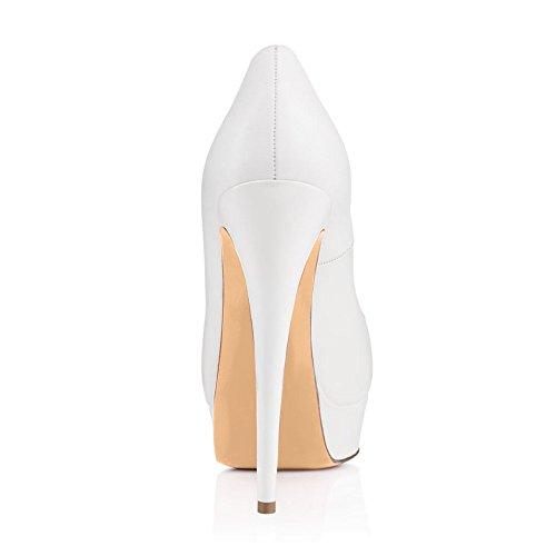 Blanc Open 15CM Peep Femme Plateforme Talon Escarpins 3CM Toe Plateforme elashe Escarpins Toe Chaussures qOxPtwHgX5