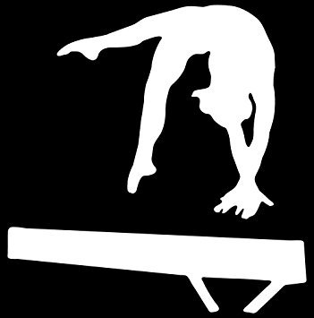 gymnastics car decal - 1