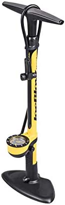 Topeak Joe Blow Sport III High Pressure Floor Pump, Frustration Free Packaging Yellow, 29.1 x 9.8 x 7.3 inches