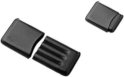 Estuche de puros de cuero para 4 plazas Angelo (negro): Amazon.es: Salud y cuidado personal