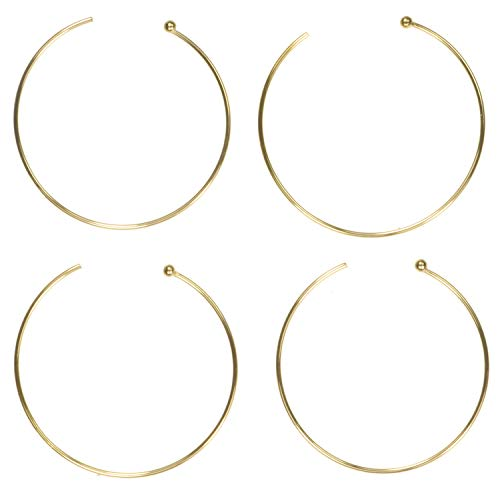 Gold Fill Earwires - 4 14K Gold Fill Endless Ball End Earwires 18mm