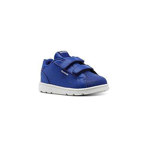 Reebok Comp CLN 2V, Zapatillas de Deporte Unisex Niño, Azul (Collegiate Royal/White 000), 25 EU