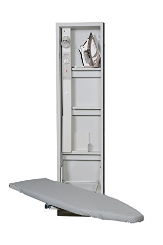 Iron-a-Way AE46NDU Ae-46 Premium Swivel Ironing Center, Cool Grey Interior/Unfinished Exterior