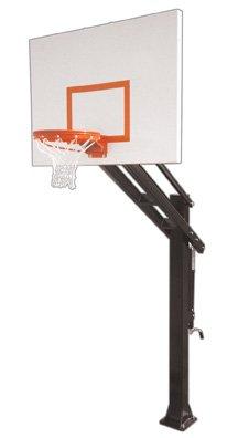 最初チームTitan Impervia steel-aluminum in ground調整可能バスケットボールsystem44、マルーン B01HC0CF2Q
