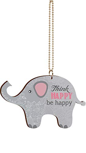 (P. GRAHAM DUNN Think Happy Be Happy Floral Elephant Wood Car)