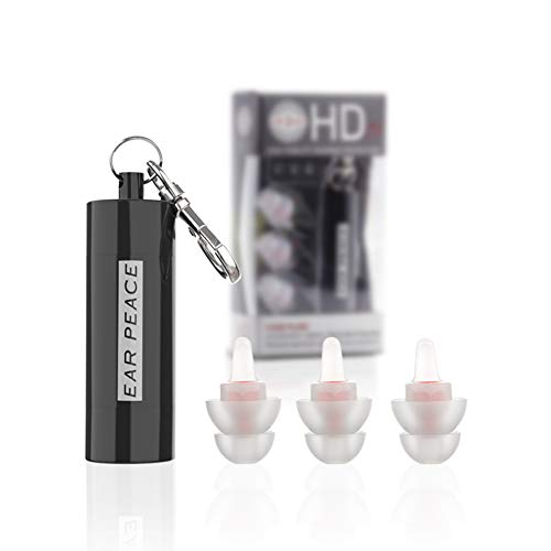 EarPeace HD Concert Ear Plugs - High Fidelity Hearing Protection for Music Festivals, DJs & Musicians (Standard, Black Case)