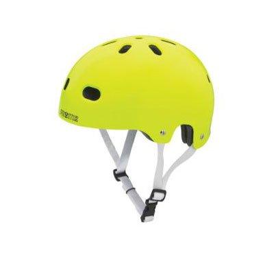 Pryme 8 V2 Helmet with White Straps, Neon Yellow, Small/Medium