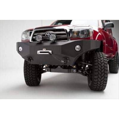 Bumpers Steel Trucks (Body Armor 4x4 TC-19335 Black - Steel Front Winch Bumper for 2005-2011 Toyota Tacoma)