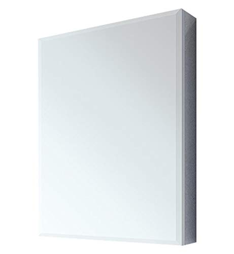 "Fleurco MCS1519B-11 Luna 15"" Wall Mount Recessed Single Door Medicine Cabinet in Chrome With Edge Profile:Bevel"