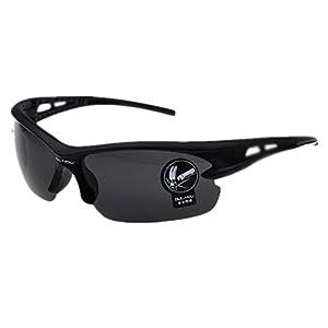 HUASHI Men's Explosion-proof sunglasses outdoor riding glasses battery car bike motorcycle sunglasses Color Black