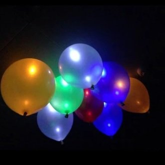 20 pcs glow in the dark sky lanterns led flash ballons llluminated led balloon wedding & birthday decoration globos party baloons - - Dark Sky Chain