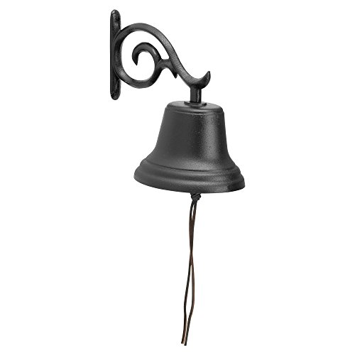 Black Large Country Bell (Whitehall Products Decorative Bell, Medium,)