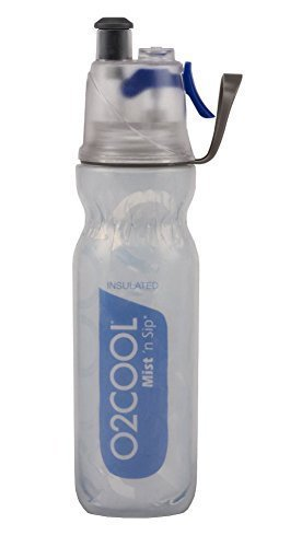 O2COOL New 20 OZ. Mist 'N SIP Double wall insulated ArticSqueeze Bottle, Blue