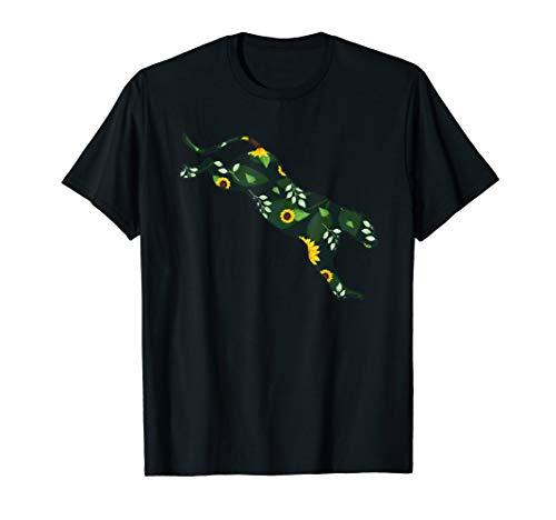Cougar Sunflower Girl Floral Puma Animal Hawaiian Women Gift T-Shirt
